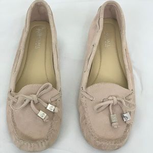 Michael Kors Soft Pink Suede Leather Loafers